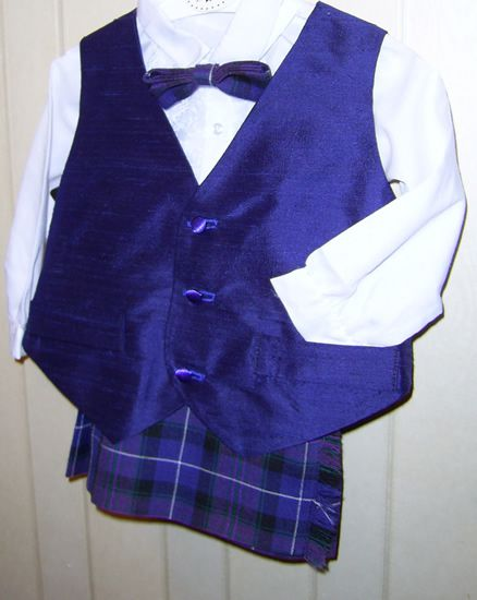 Baby Kilt Outfit blue