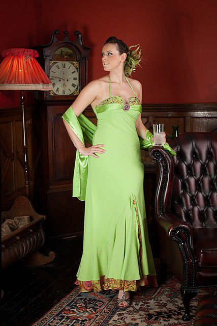 Apple-green-halter-dress