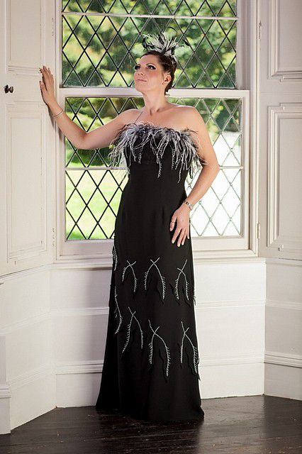 Black-feathered-dress