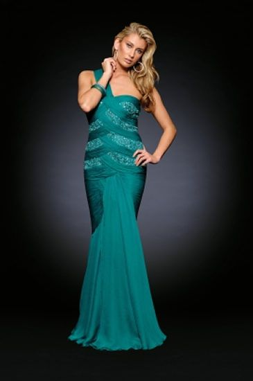 Pleated dress with mermaid tail
