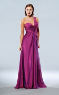 One-shoulder-ruched-bodice-dress