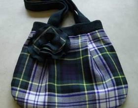 Tote  bag in Dress Gordon Tartan
