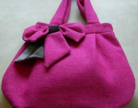 Tote bag in pink Harris Tweed and Grey Douglas tartan