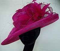 Cerise pink wedding hat