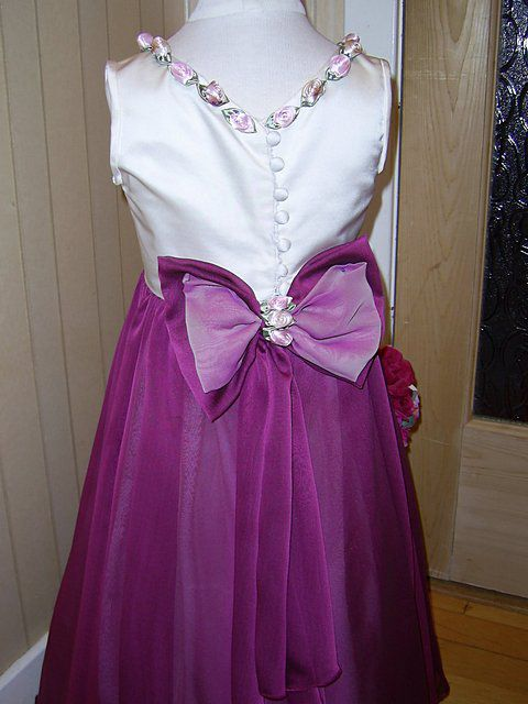 flower girl cerise dress