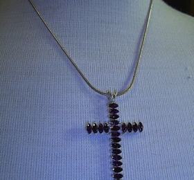 Black-stone-cross-necklace