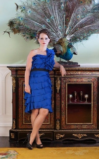 Royal-blue-short-ruffle-dress