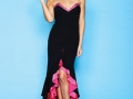 Strapless-dress-with-raised-front-hem