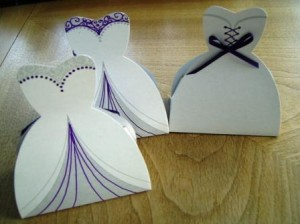 Dress wedding favour boxes